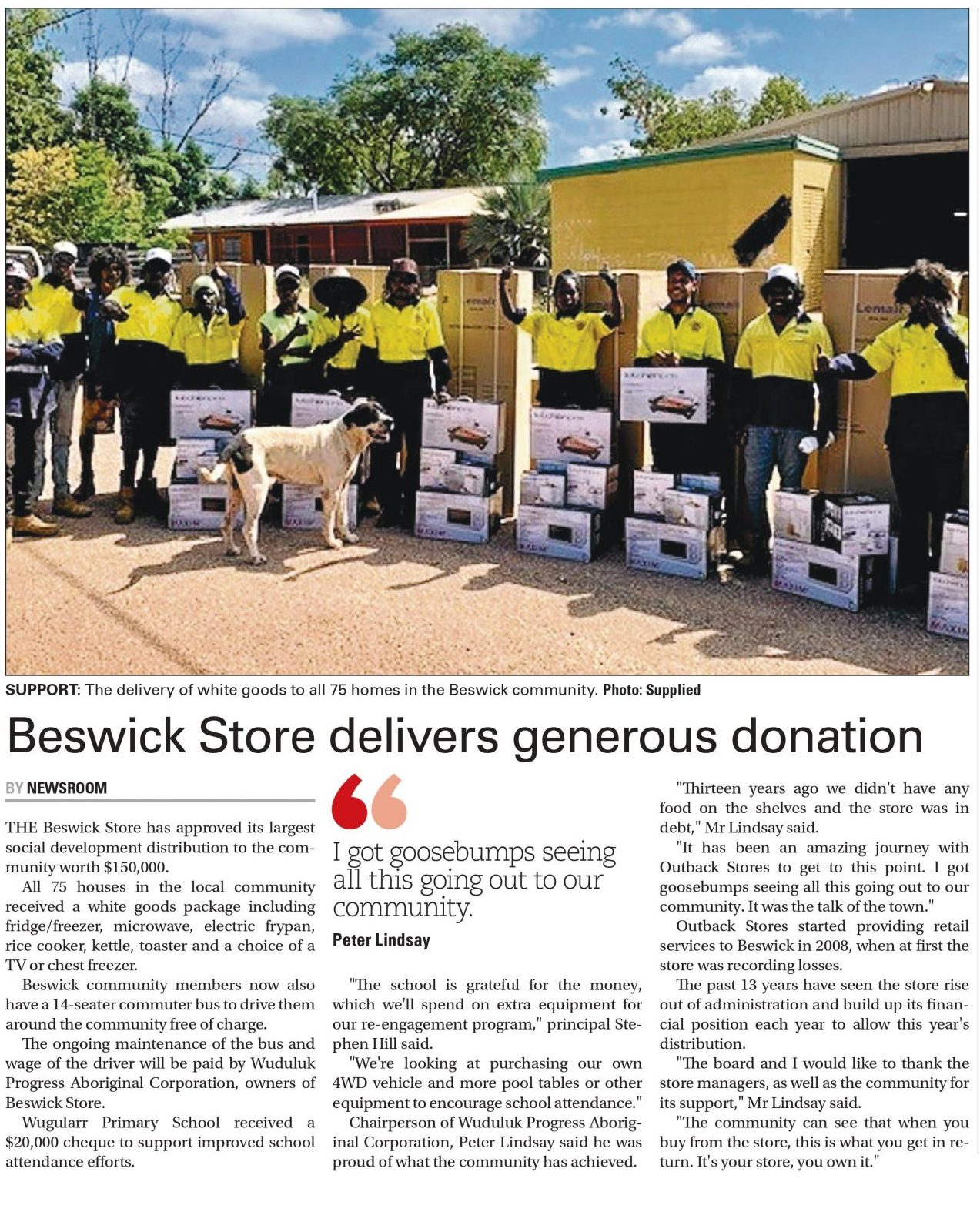 Beswick Store in Katherine Times